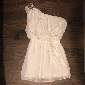 Forever 21 White One Shoulder Dress